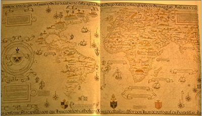 Picture Of Age Of Discovery World Map By Diego Ribero.