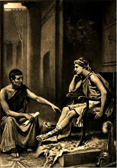 Picture Of Alexander The Great And Aristotle