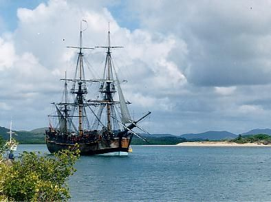 Picture Of Captain James Cook Endeavour Replica