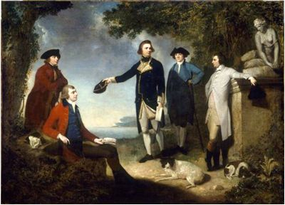 Picture Of Captain James Cook First From Left To Right
