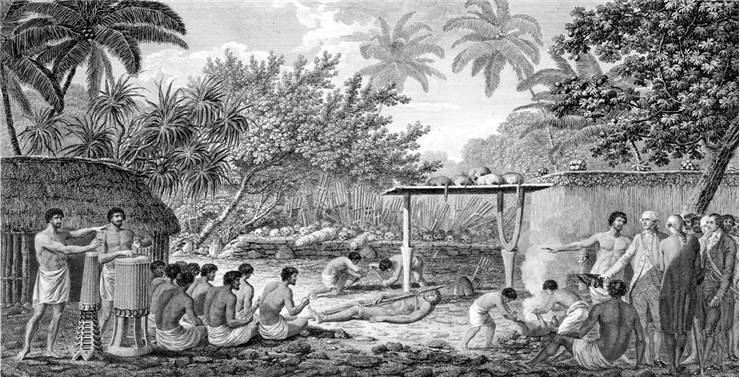 Picture Of Captain James Cook Witnessing Human Sacrifice In Taihiti