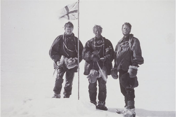 Picture Of Douglas Mawson Mc Kay And David At Magnetic Sth Pole