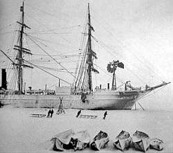 Picture Of Ernest Shackleton Expedition Ship Discovery In Antarctic