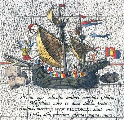Picture Of Ferdinand Magellan The Solo Ship Victoria