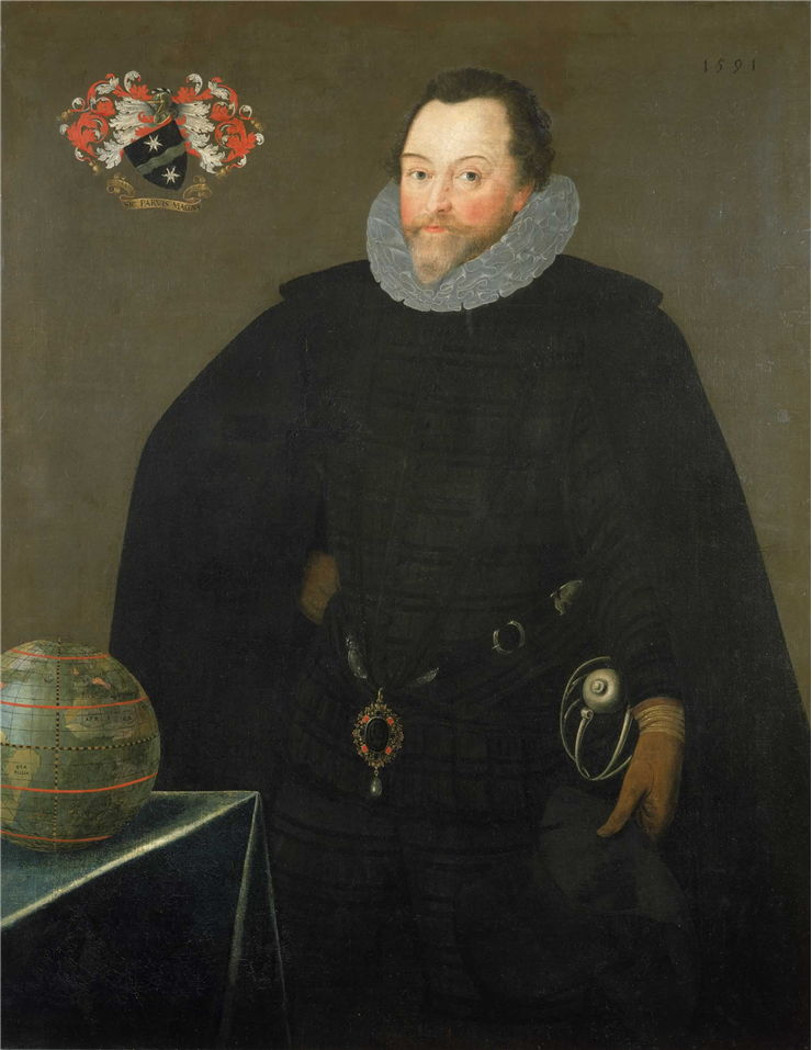 Picture Of Francis Drake 1591