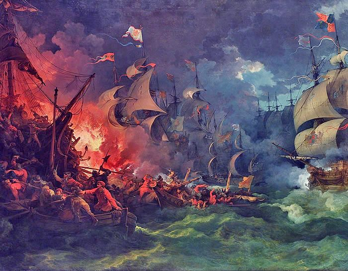 Picture Of Francis Drake Defeat Of The Spanish Armada