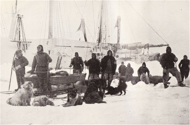 Picture Of Fridtjof Nansen And His Crew Begin Journey To The North Pole