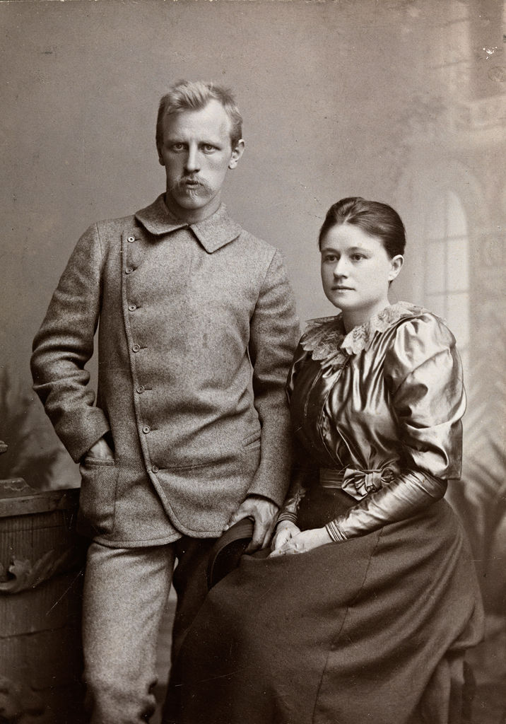 Picture Of Fridtjof Nansen And His Spouse Eva Nansen