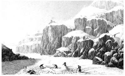 Picture Of George Back Expedition Crossing The Coppermine River