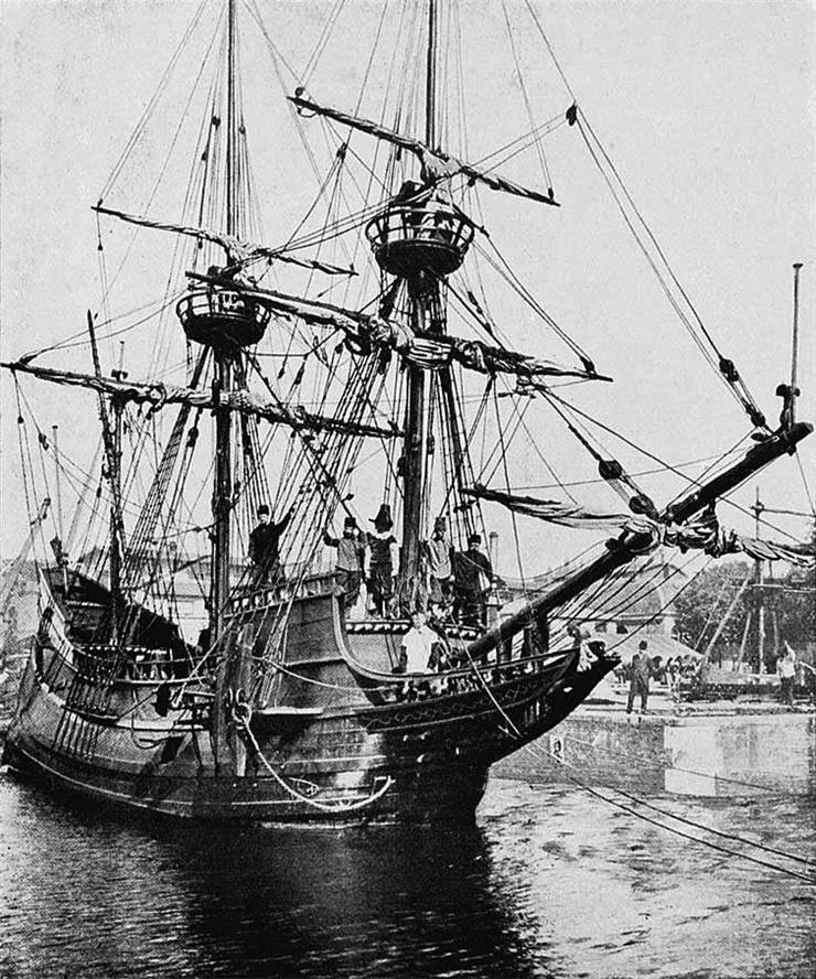 Picture Of Henry Hudson Ship Halve Maen