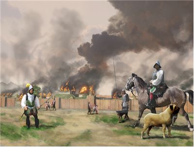 Picture Of Hernando De Soto Men Burn Mabila