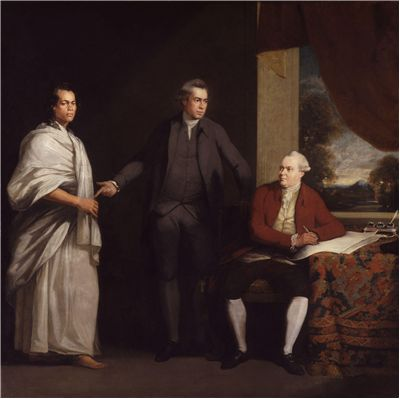 Picture Of Joseph Banks And Daniel Charles Solander And Omai