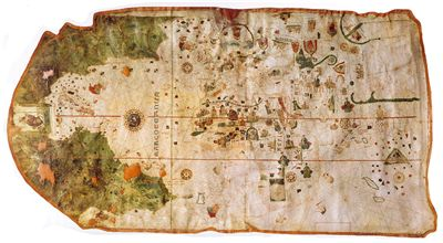 Picture Of Juan De La Cosa The Earliest European World Map