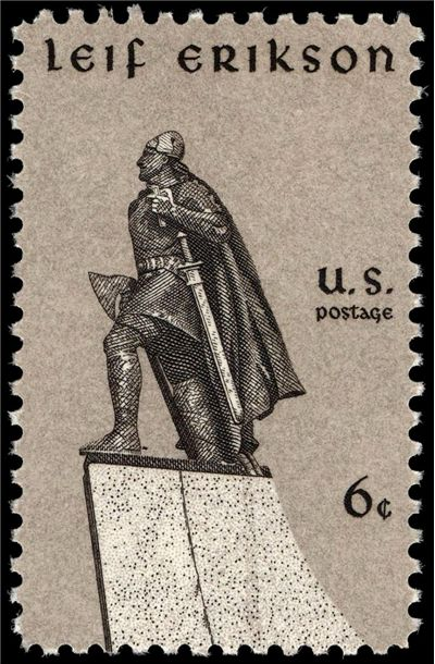 Picture Of Leif Erikson Commemorative Stamp