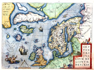 Picture Of Leif Erikson Map 1573