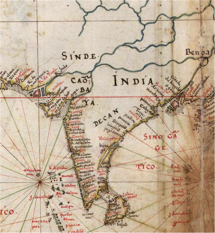 Picture Of Portuguese Map Of India