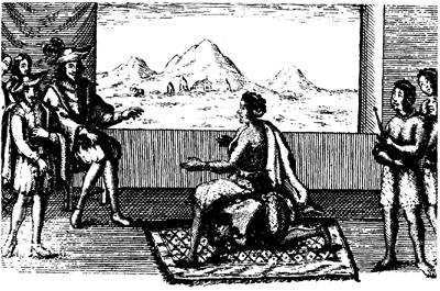 Picture Of Queen Nzinga And Portuguese Governor In Luanda 1657