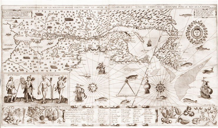 Picture Of Samuel De Champlain Map Of New France on samuel de champlain birth country, samuel de champlain route, samuel de champlain flag, samuel de champlain books, samuel de champlain education, samuel de champlain voyages,
