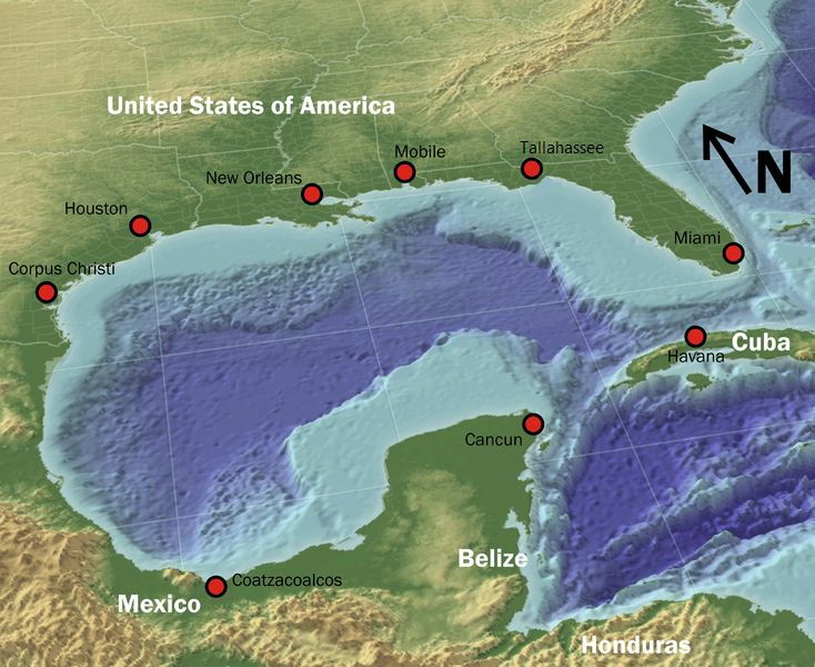 Picture Of Sebastian De Ocampo The First European Discovery Of The Gulf Of Mexico