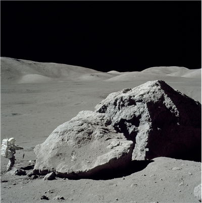 Picture Of Space Exploring Astronaut On The Moon