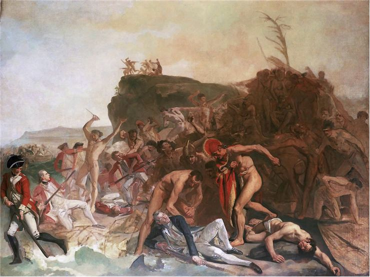 Picture Of The Death Of Captain James Cook