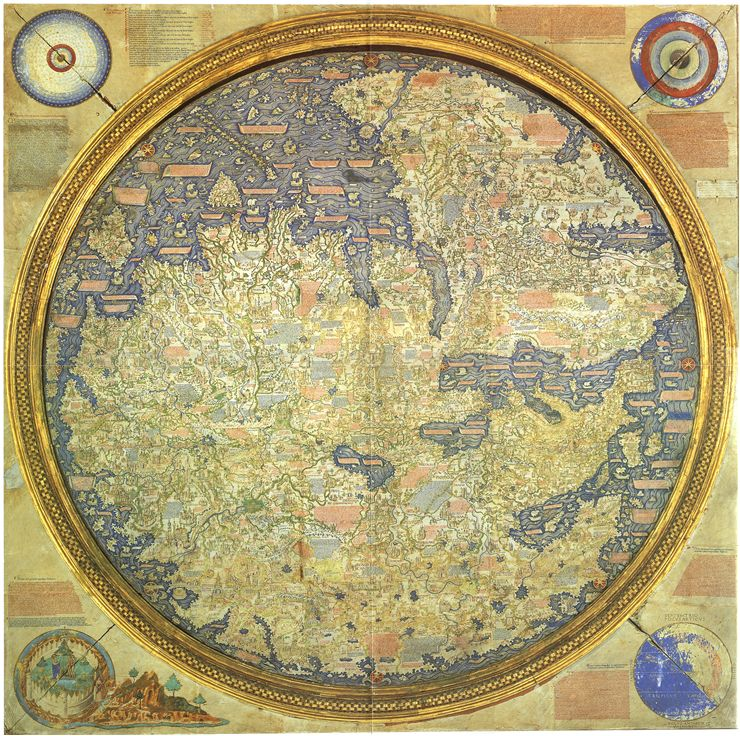Picture Of The Fra Mauro Map 1459