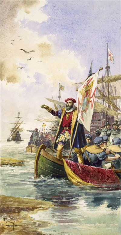 Picture Of Vasco Da Gama Lands At Calicut 1498