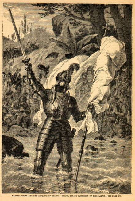 Picture Of Vasco Nunez De Balboa Claiming Possession Of The South Sea