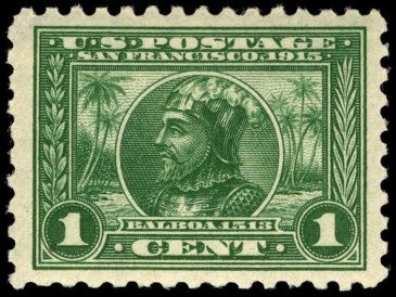 Picture Of Vasco Nunez De Balboa On One Cent 1913
