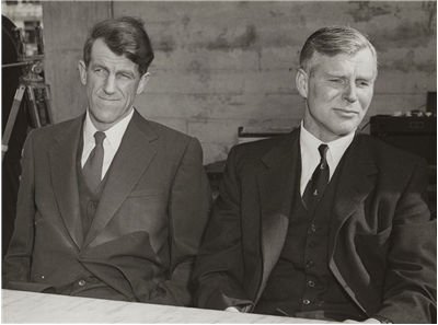 Picture Of Vivian Fuchs With Sir Edmund Hillary