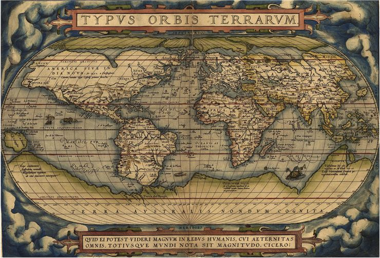 Picture Of World Map Typvs Orbis Terrarvm 1570